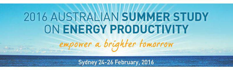 The 2016 Australian Summer Study on Energy Productivity