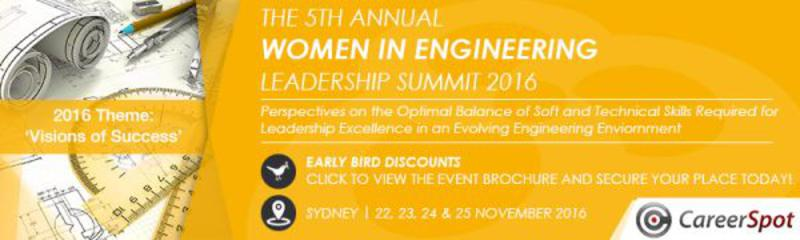 The 5th Annual Women in Engineering Leadership Summit 2016